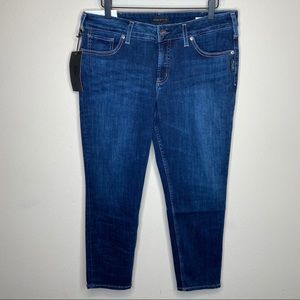 Silver Suki Skinny Crop Jeans in Indigo Size 32